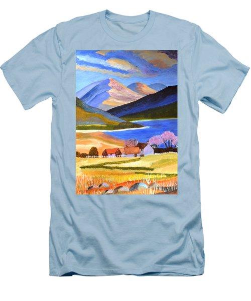 Scottish Highlands 2 Men's T-Shirt (Slim Fit) by Magdalena Frohnsdorff
