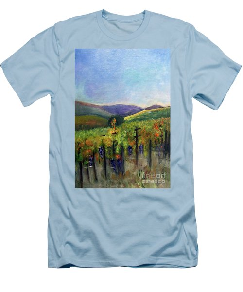 Scotts Vineyard Men's T-Shirt (Slim Fit) by Donna Walsh