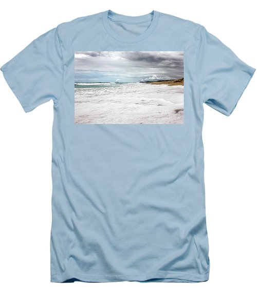 Men's T-Shirt (Slim Fit) featuring the photograph Sea Foam And Clouds By Kaye Menner by Kaye Menner