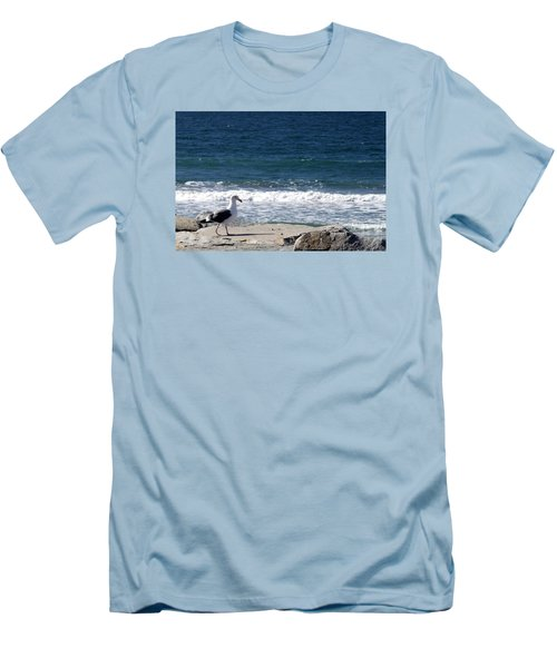 Seagull  Men's T-Shirt (Slim Fit) by Christopher Woods