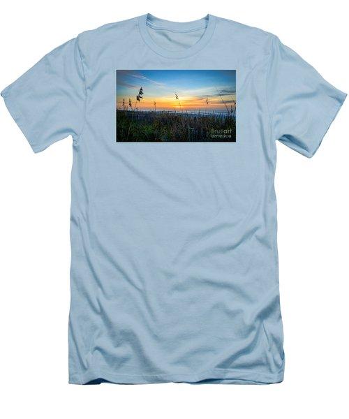 Sea Oats Sunrise Men's T-Shirt (Slim Fit) by David Smith