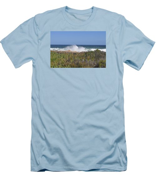 Men's T-Shirt (Slim Fit) featuring the photograph Sea Spray by Linda Ferreira