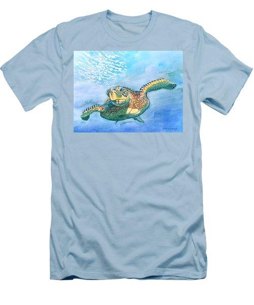 Sea Turtle Series #2 Men's T-Shirt (Athletic Fit)