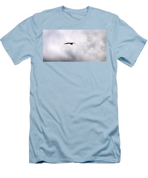 Men's T-Shirt (Slim Fit) featuring the photograph Seagull's Sky 2 by Jouko Lehto