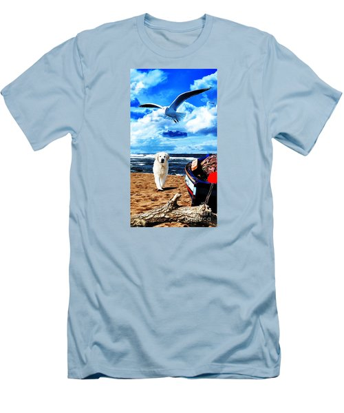 Seascape - Paesaggio Marino Men's T-Shirt (Slim Fit) by Zedi