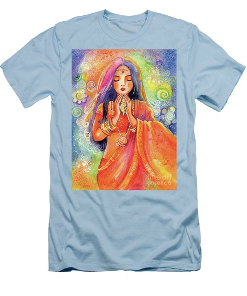 Men's T-Shirt (Slim Fit) featuring the painting Seashell Wish by Eva Campbell