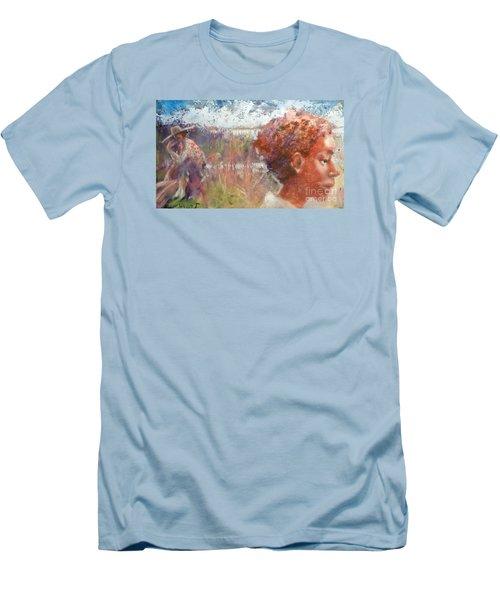 Seasons Of Sweetgrass Men's T-Shirt (Slim Fit)