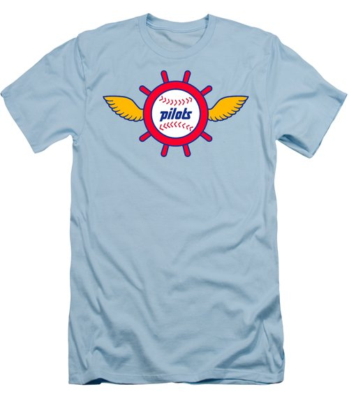 Seattle Pilots Retro Logo Men's T-Shirt (Slim Fit) by Spencer McKain