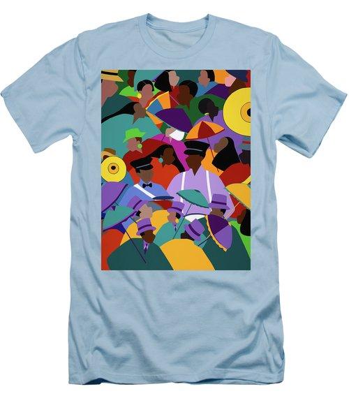 Second Line New Orleans Men's T-Shirt (Athletic Fit)