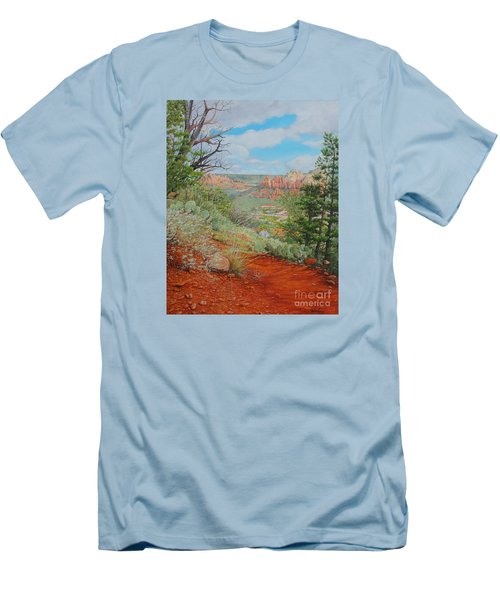 Sedona Trail Men's T-Shirt (Slim Fit) by Mike Ivey