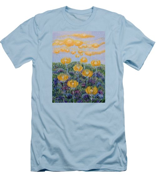 Men's T-Shirt (Slim Fit) featuring the painting Seeing Through by Holly Carmichael