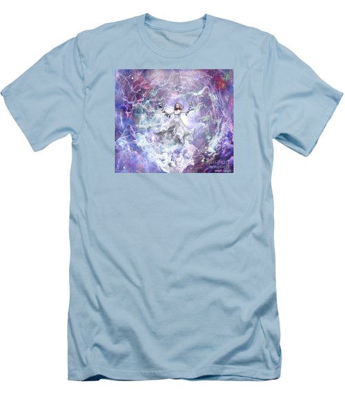 Men's T-Shirt (Slim Fit) featuring the digital art Seek And You Shall Find by Dolores Develde