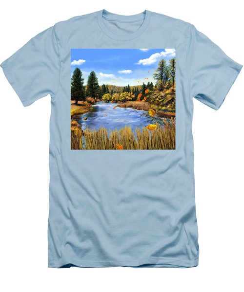 Seeley Montana Fall Men's T-Shirt (Slim Fit) by Susan Kinney