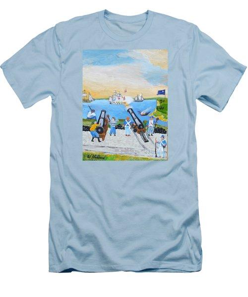 Seige Of Charleston, Sc Men's T-Shirt (Slim Fit) by Bill Hubbard