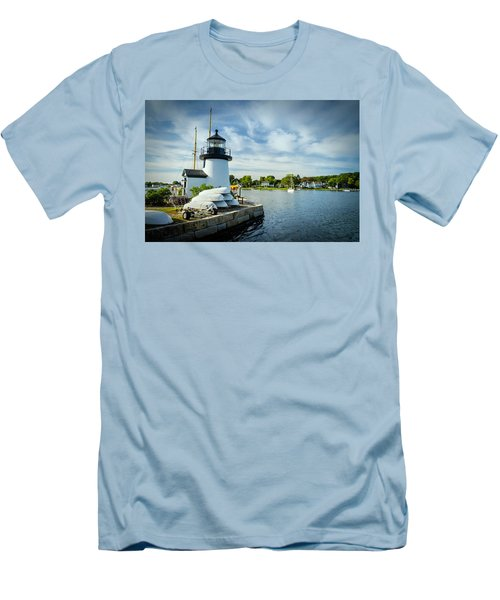 Sentinels Of The Sea Lighthouse Men's T-Shirt (Slim Fit)