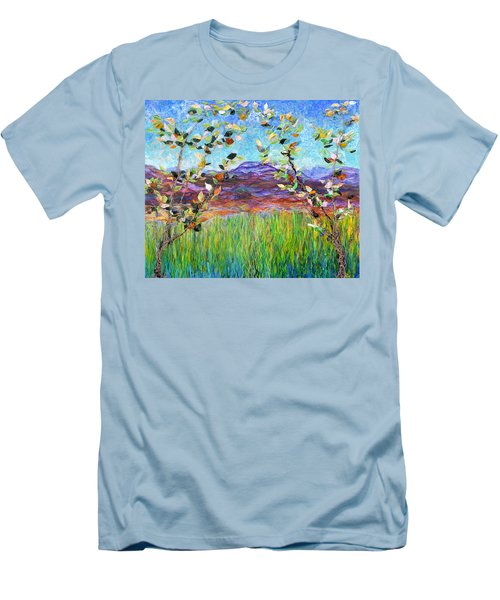Sentries Diptych Men's T-Shirt (Slim Fit) by Regina Valluzzi