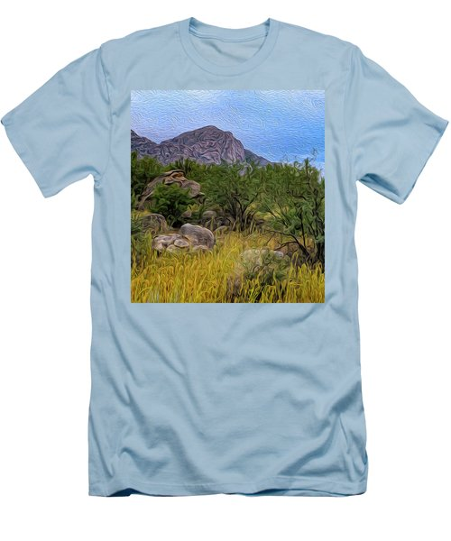 Men's T-Shirt (Athletic Fit) featuring the photograph September Oasis No.2 by Mark Myhaver