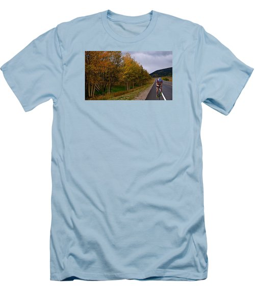 Men's T-Shirt (Slim Fit) featuring the photograph Set Your Own Pace by Laura Ragland