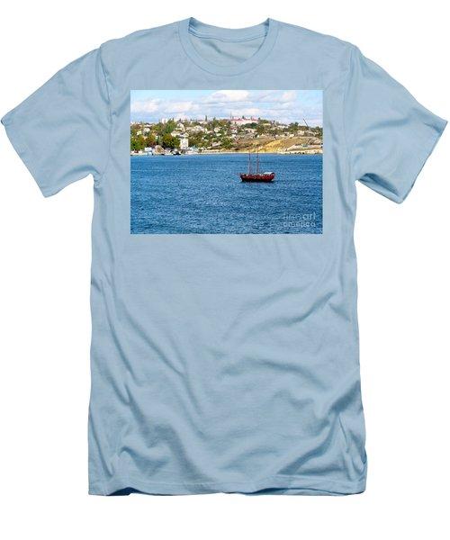 Sevastapol. Ukraine Men's T-Shirt (Slim Fit) by Phyllis Kaltenbach
