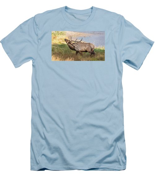 Seven Point Elk Bugling Men's T-Shirt (Athletic Fit)