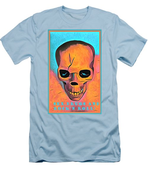 Men's T-Shirt (Slim Fit) featuring the digital art Sex Drugs And Rock N Roll by Floyd Snyder
