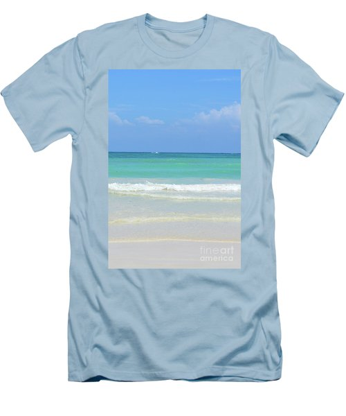 Men's T-Shirt (Slim Fit) featuring the digital art Seychelles Islands 3 by Eva Kaufman