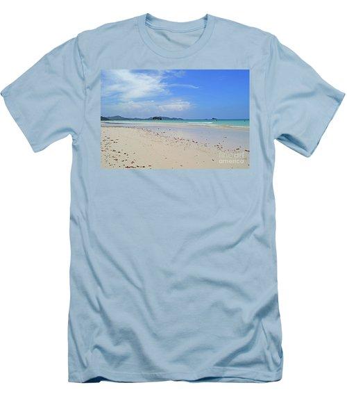 Men's T-Shirt (Slim Fit) featuring the digital art Seychelles Islands 4 by Eva Kaufman