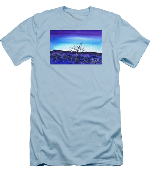 Shades Of Blue Men's T-Shirt (Slim Fit) by Kenneth Clarke