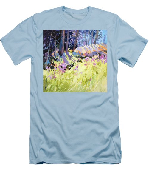 Men's T-Shirt (Slim Fit) featuring the painting Shadow Dance Alaska by Rae Andrews
