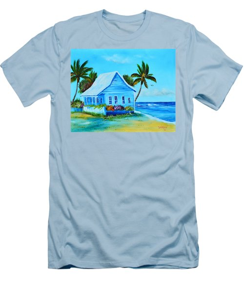 Shanty In Jamaica Men's T-Shirt (Athletic Fit)