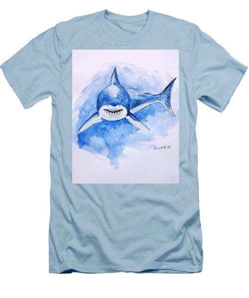 Shark Men's T-Shirt (Slim Fit) by Edwin Alverio