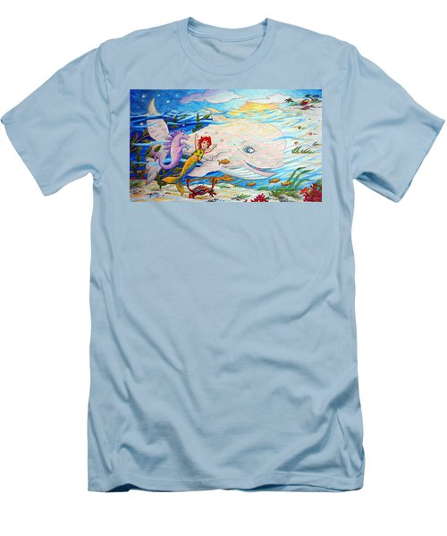 She Joyfully Swims  Men's T-Shirt (Athletic Fit)