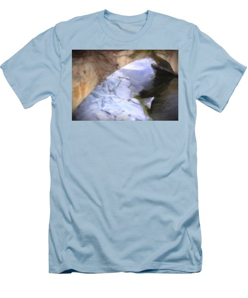 Shelburne Falls River Ice Men's T-Shirt (Slim Fit) by Tom Singleton