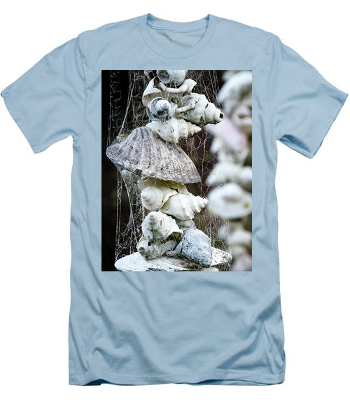 Men's T-Shirt (Slim Fit) featuring the photograph Shells Composition by Yurix Sardinelly