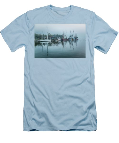 Shem Creek Fog Men's T-Shirt (Athletic Fit)