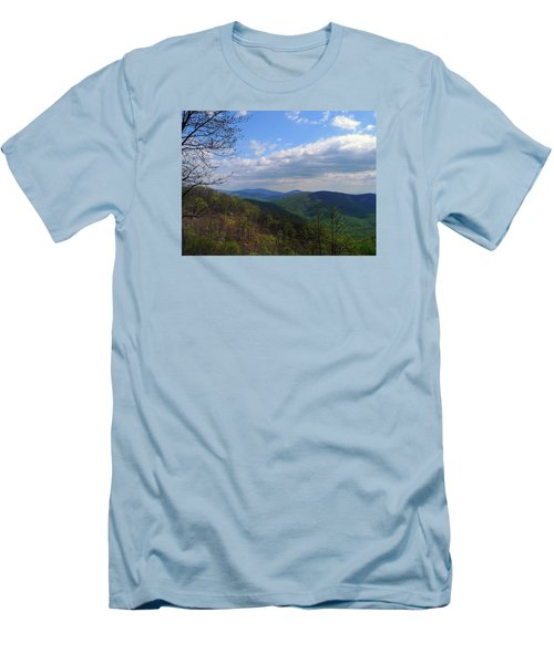 Men's T-Shirt (Slim Fit) featuring the photograph Shenandoah Skies by Lynda Lehmann