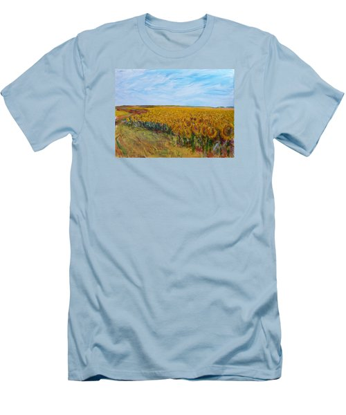 Sunny Faces Men's T-Shirt (Slim Fit) by Helen Campbell