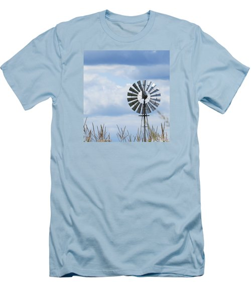Men's T-Shirt (Slim Fit) featuring the photograph Shiny Windmill by Jeanette Oberholtzer