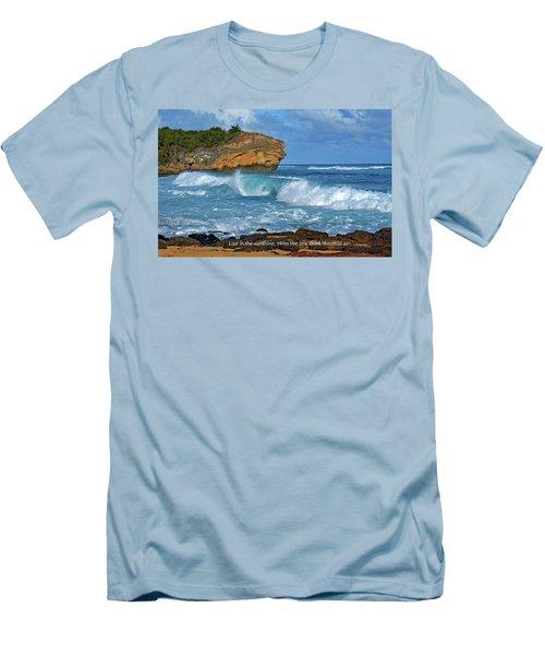 Shipwreck Beach Shorebreaks 2 Men's T-Shirt (Athletic Fit)
