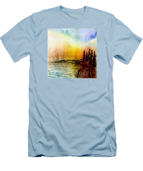 Shoreline Men's T-Shirt (Slim Fit) by R Kyllo