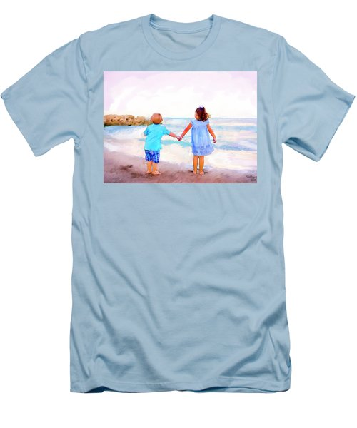 Sibling At Sunset Men's T-Shirt (Athletic Fit)