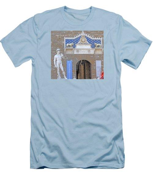 Signoria Square's David Men's T-Shirt (Slim Fit) by Allan Levin