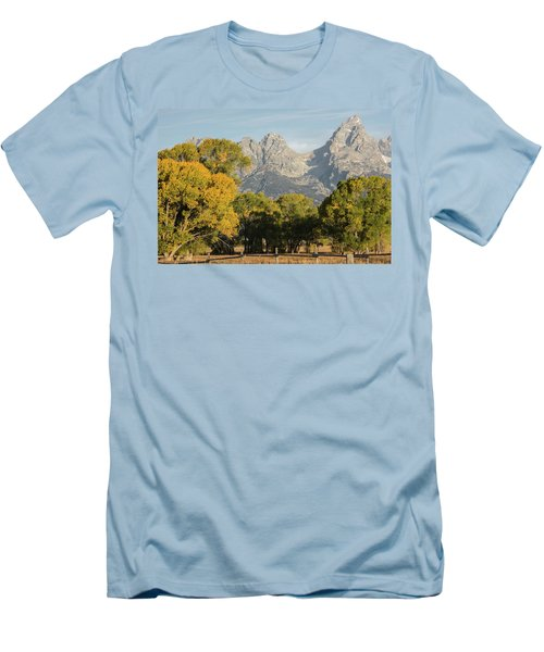 Men's T-Shirt (Athletic Fit) featuring the photograph Signs Of Autum by Colleen Coccia