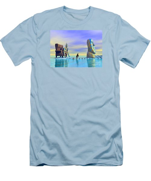 Silent Mind - Surrealism Men's T-Shirt (Slim Fit) by Sipo Liimatainen