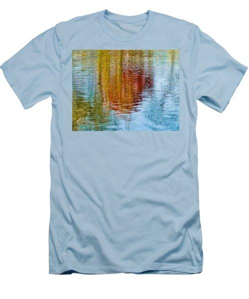 Silver Lake Autumn Reflections Men's T-Shirt (Slim Fit) by Michael Bessler