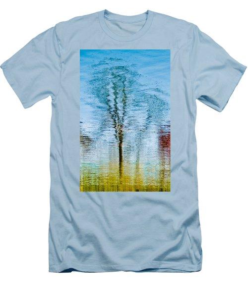 Silver Lake Tree Reflection Men's T-Shirt (Slim Fit) by Michael Bessler