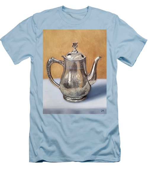 Silver Teapot Men's T-Shirt (Athletic Fit)