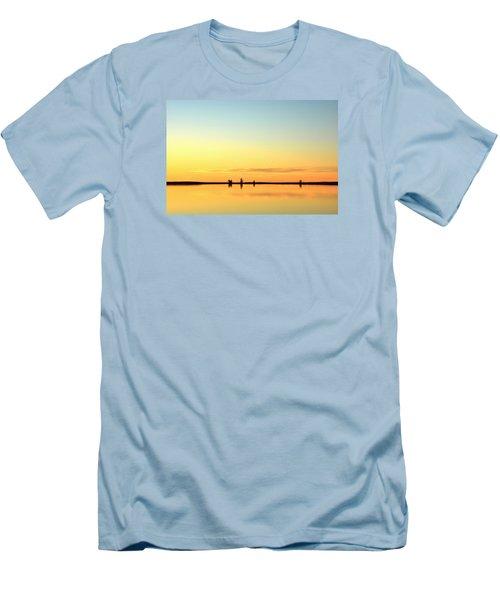 Simple Sunrise Men's T-Shirt (Slim Fit) by Fiskr Larsen