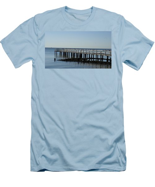 Men's T-Shirt (Slim Fit) featuring the photograph Sittin' On The Dock By The Bay by Charles Kraus