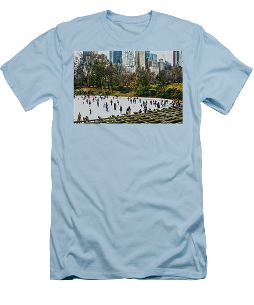 Men's T-Shirt (Slim Fit) featuring the photograph Skating At Central Park by Sandy Moulder